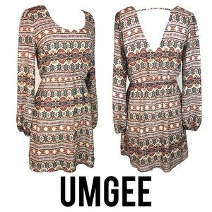 UMGEE Tribal Print Boho Dress M